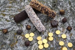 masipan på berg med guldpengar
